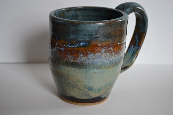spring showers mug - handmade hues of blue